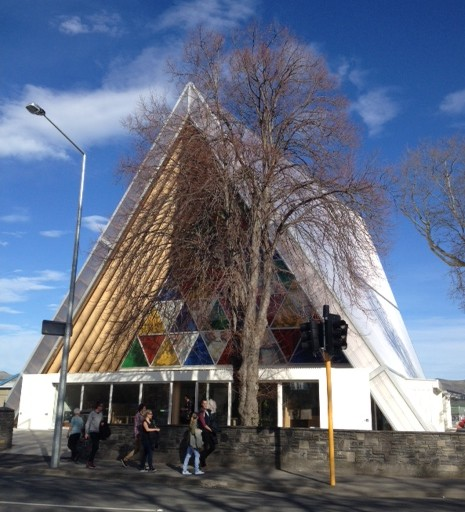An elegant cardboard cathedral the comfort pursuit for Innovative landscapes christchurch