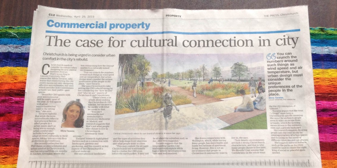 Article published on The Press: 'The case for cultural connection in city'