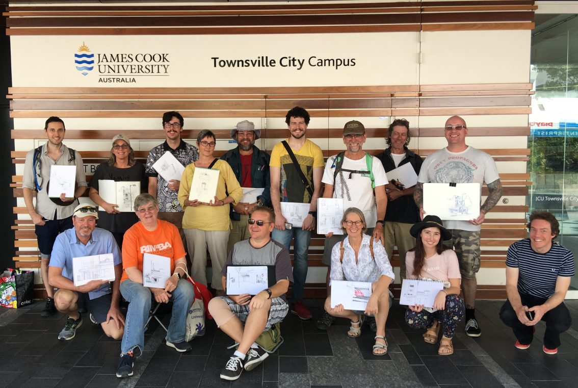 JCU street sketching in Townsville: An approach to drawing on location and recording what you see
