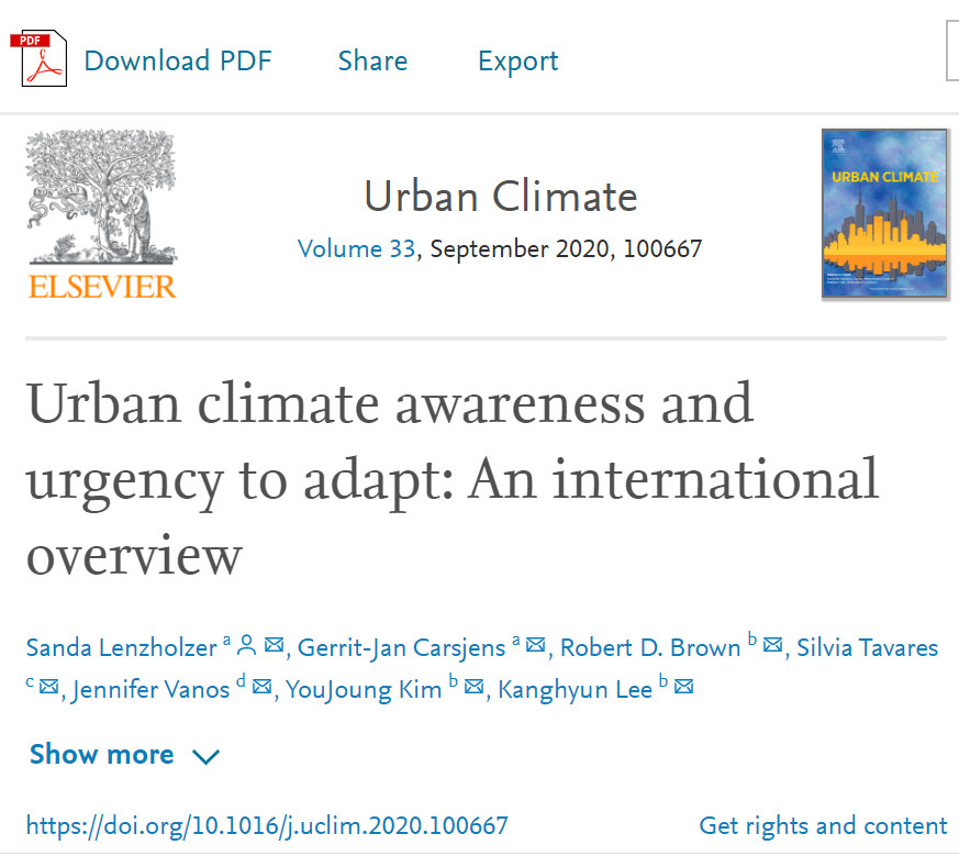 Urban climate awareness and urgency to adapt: An international overview