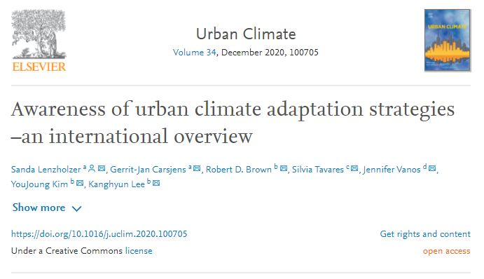 Awareness of urban climate adaptation strategies – an international overview