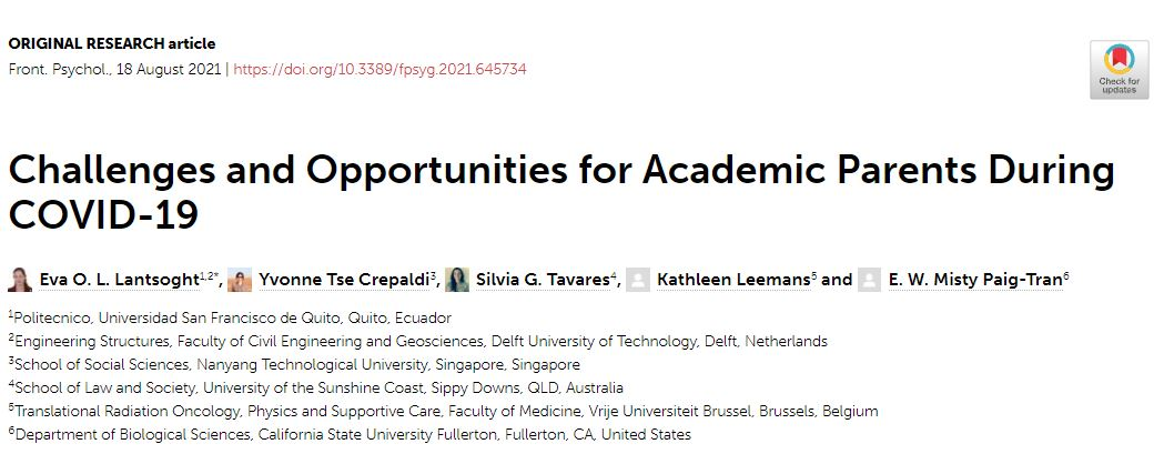 Challenges and Opportunities for Academic Parents DuringCOVID-19